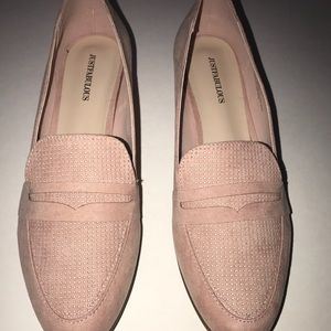 49f023599cd JustFab Shoes - JustFab Blush loafers Womens size 11